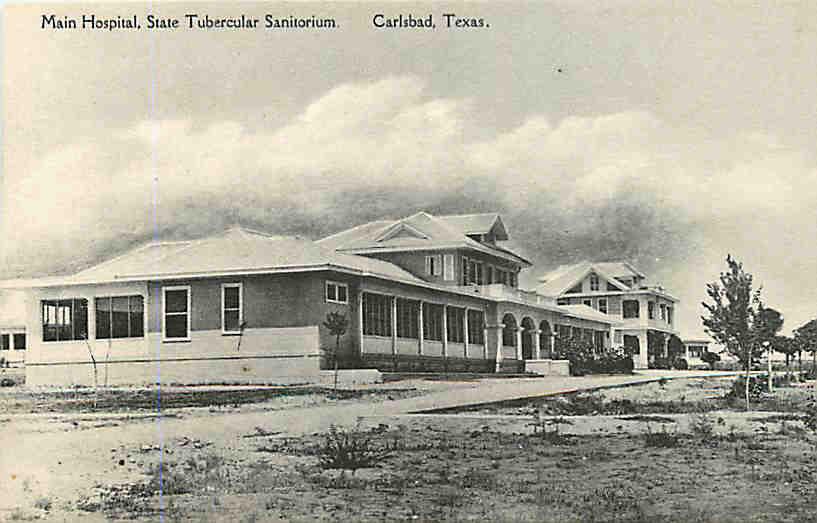 Main Hospital State Tubercular Sanitorium Postcard - Carlsbad Texas TX 1950s